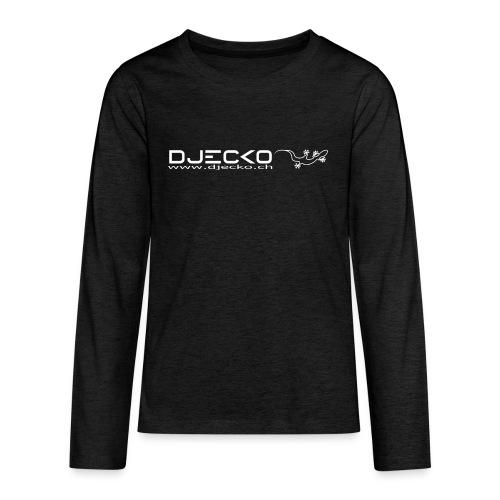 Djecko blanc - T-shirt manches longues Premium Ado