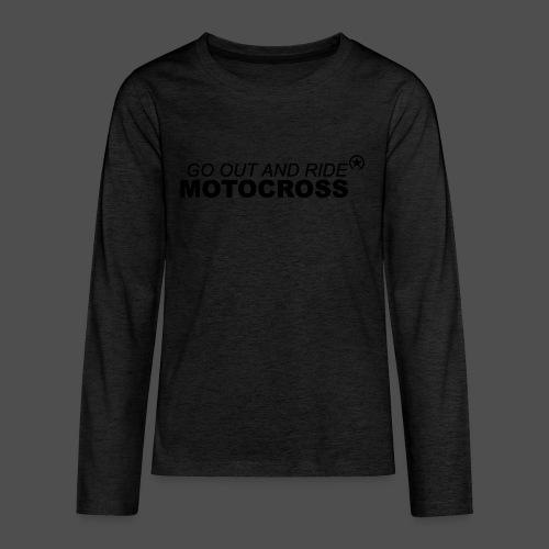jeździć motocross bk - Koszulka Premium z długim rękawem dla nastolatków