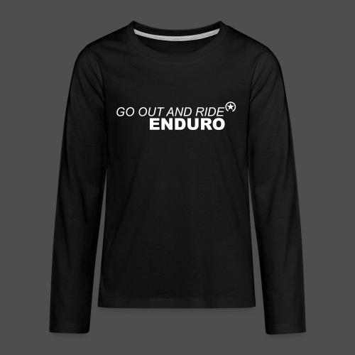 wyjdź i jedź enduro bk - Koszulka Premium z długim rękawem dla nastolatków