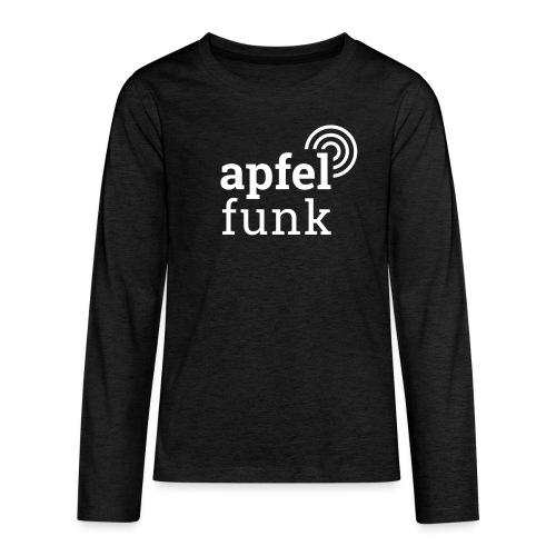 Apfelfunk Dark Edition - Teenager Premium Langarmshirt