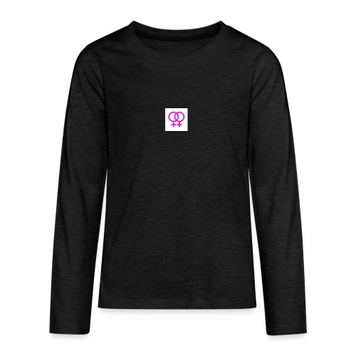 lesbian logo - T-shirt manches longues Premium Ado