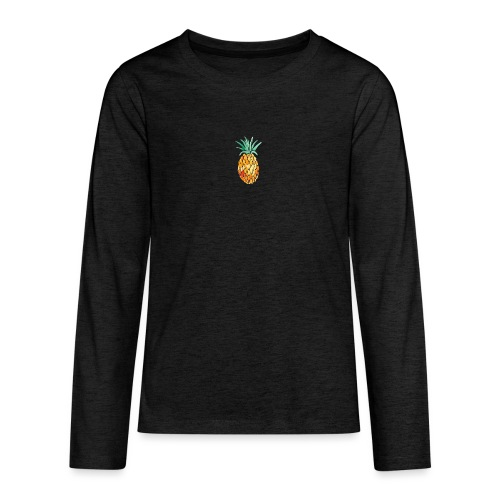 pinety logo print - Teenager premium T-shirt med lange ærmer