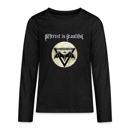 Different is Beautiful with Moon WGM Logo - Teenagers' Premium Longsleeve Shirt