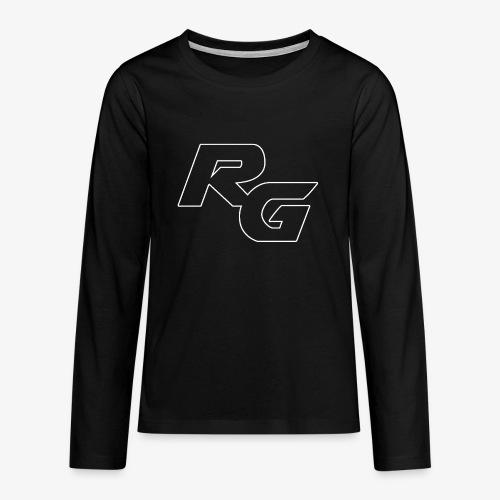 Logo RG Minimal - Maglietta Premium a manica lunga per teenager