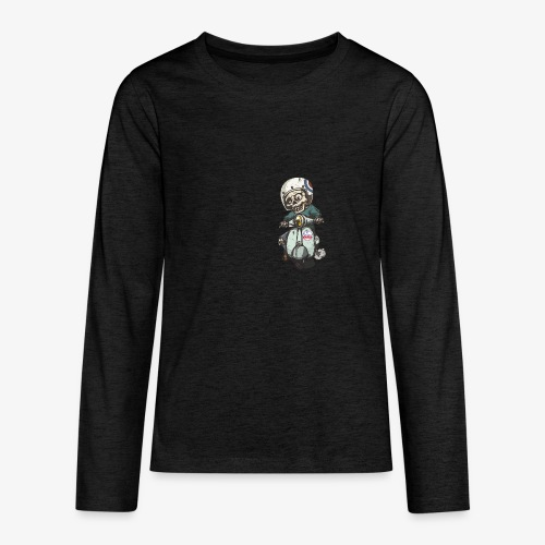 Skullterist - Solo Big Print - Teenager Premium Langarmshirt