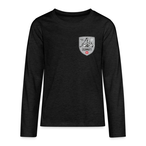 Zermatt Schweiz Wappen - Teenagers' Premium Longsleeve Shirt