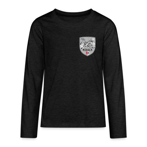 Eiger, Mönch und Jungfrau mit Mürren Flagge - Teenagers' Premium Longsleeve Shirt