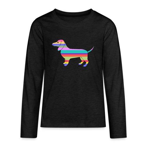 Happy - Teinien premium pitkähihainen t-paita