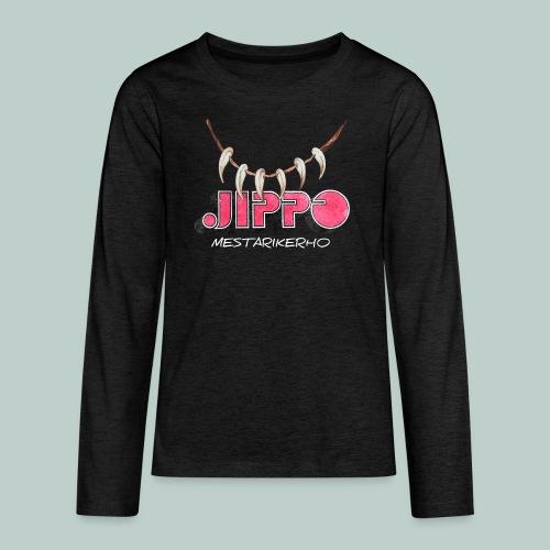 jippomestari_pink - Teinien premium pitkähihainen t-paita