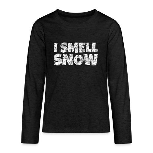 I Smell Snow Schnee, Weihnachten & Wintersport - Teenager Premium Langarmshirt