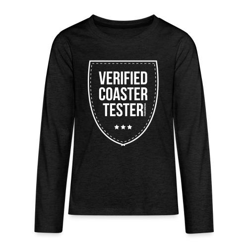 Badge CoasterTester vérifié - T-shirt manches longues Premium Ado