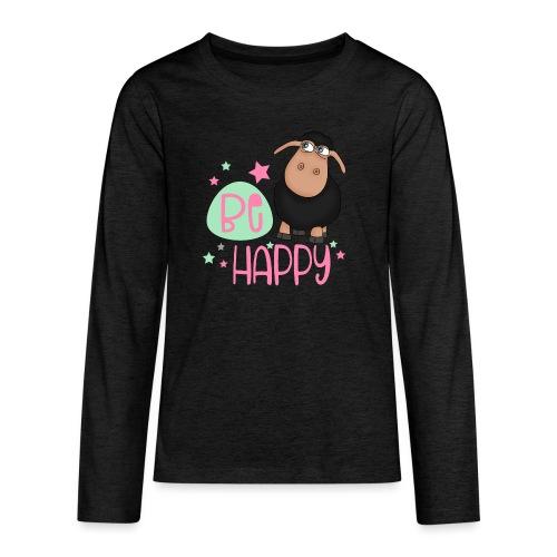 Schwarzes Schaf - be happy Schaf Glückliches Schaf - Teenager Premium Langarmshirt
