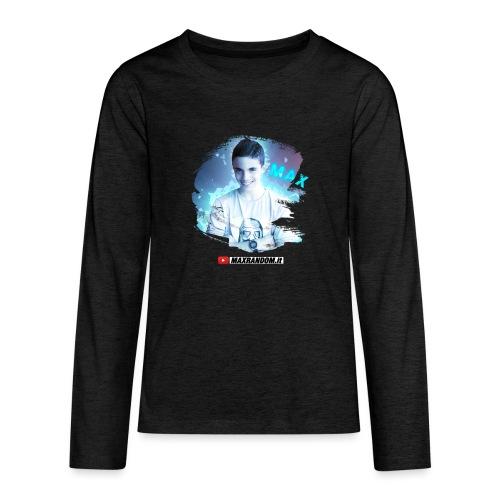 Max Random - Maglietta Premium a manica lunga per teenager