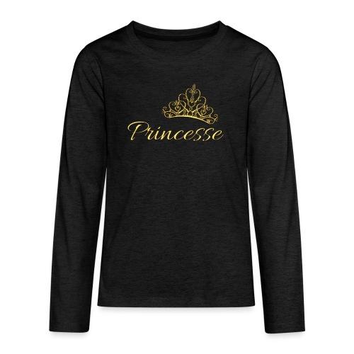 Princesse Or - by T-shirt chic et choc - T-shirt manches longues Premium Ado