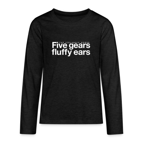 Five gears fluffy ears - Premium langermet T-skjorte for tenåringer