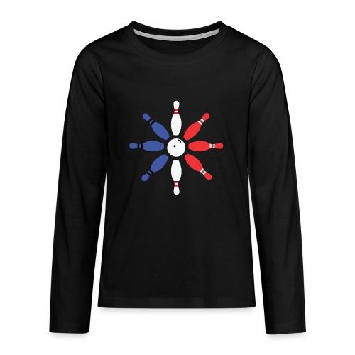 Roue de Quilles - T-shirt manches longues Premium Ado
