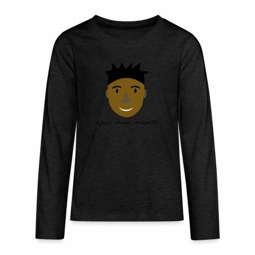 jesus loves myselfie - Teenager Premium Langarmshirt