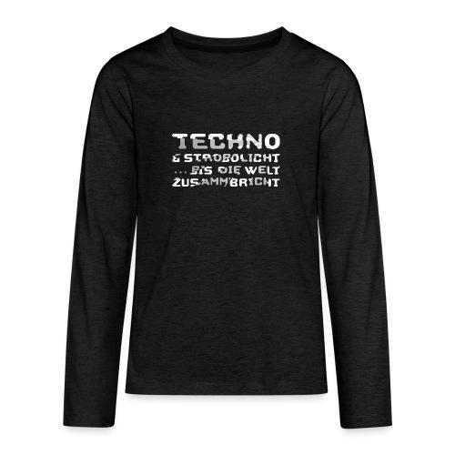 Techno & Strobo I - Teenager Premium Langarmshirt