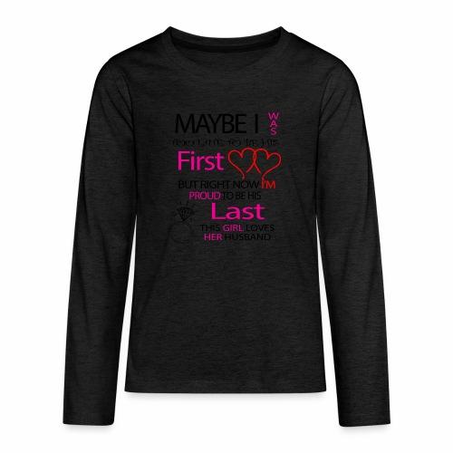 I love my husband - gift idea - Teenagers' Premium Longsleeve Shirt