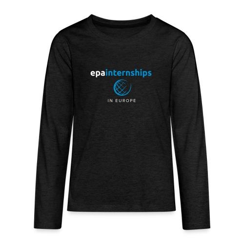 EPA Logo White - Teenagers' Premium Longsleeve Shirt