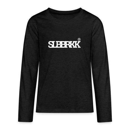 SLBBRKK white - Teenager Premium shirt met lange mouwen