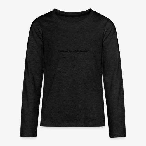 talk - Koszulka Premium z długim rękawem dla nastolatków