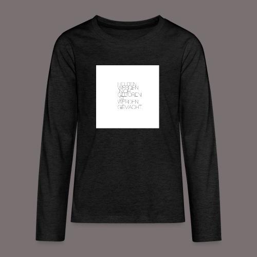 Helden - Teenager Premium Langarmshirt