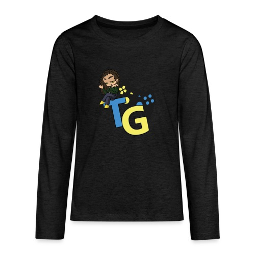 logo kanału z konorią - Koszulka Premium z długim rękawem dla nastolatków