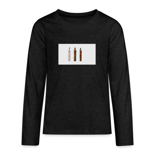 pencil - Maglietta Premium a manica lunga per teenager