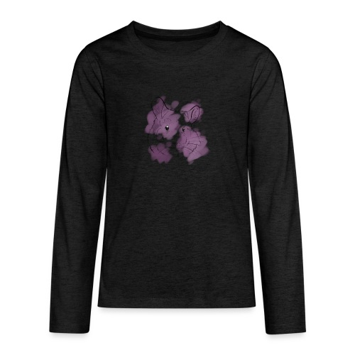 Violet splash chinchilla - Teinien premium pitkähihainen t-paita