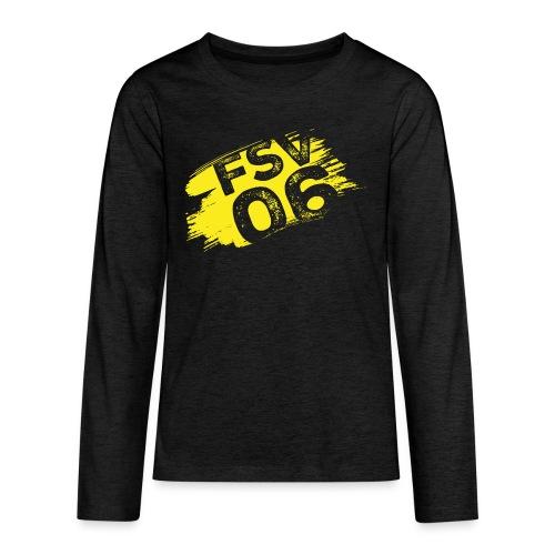 Hildburghausen FSV 06 Graffiti gelb - Teenager Premium Langarmshirt