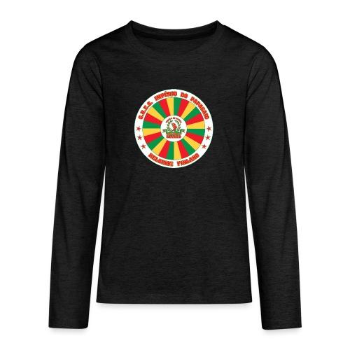Papagaio drum logo - Teinien premium pitkähihainen t-paita