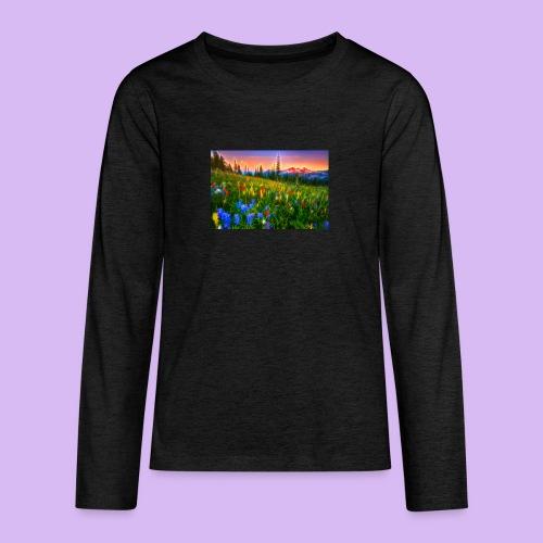 Bagliori in montagna - Maglietta Premium a manica lunga per teenager