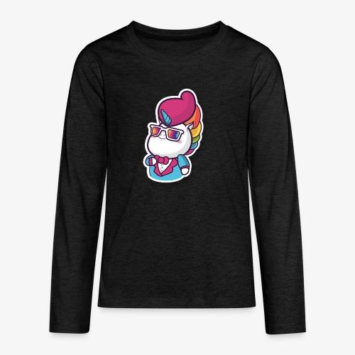 Funny Unicorn - Teenagers' Premium Longsleeve Shirt
