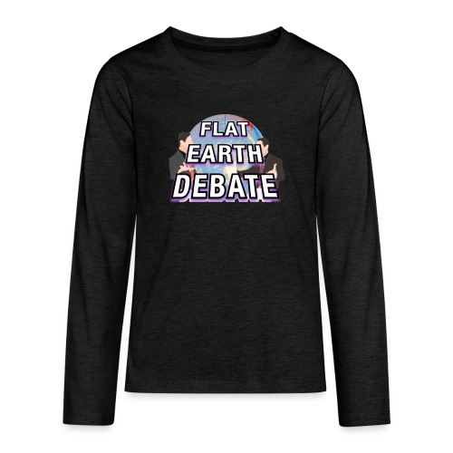 Flat Earth Debate Solid - Teenagers' Premium Longsleeve Shirt