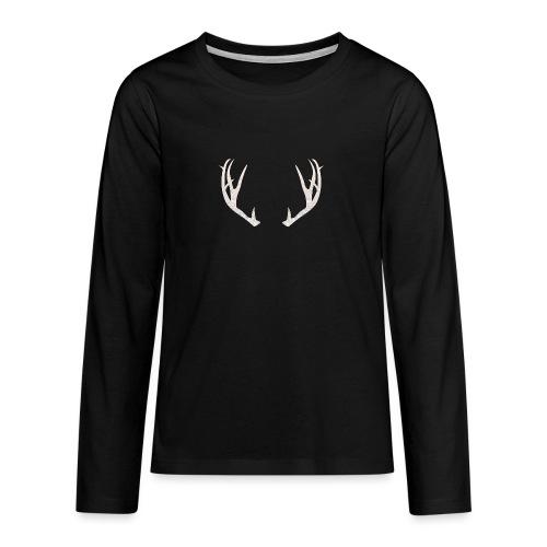 Jäiset poronsarvet - Teinien premium pitkähihainen t-paita