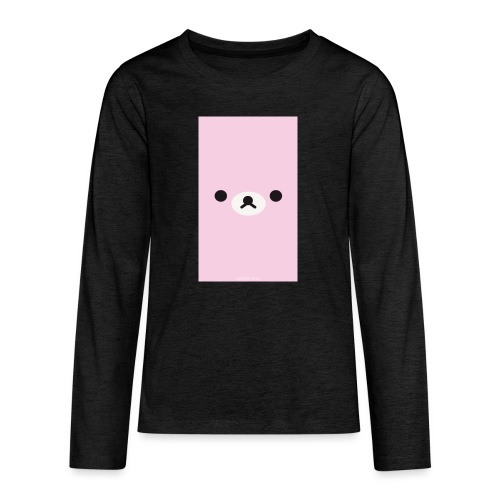Cute Pink Bear Merch - Teenagers' Premium Longsleeve Shirt