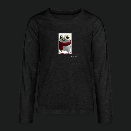 Merch white snow owl - Teenager Premium shirt met lange mouwen