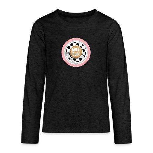 Milfcafé - MILF Logo Instagram Blogger Musthave - Teenager Premium Langarmshirt