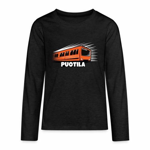 HELSINKI PUOTILA METRO T-Shirts, Hoodies, Gifts - Teinien premium pitkähihainen t-paita
