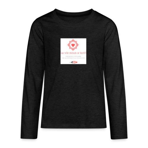 la vie! - T-shirt manches longues Premium Ado
