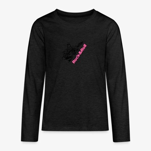 Rock 001 - Camiseta de manga larga premium adolescente