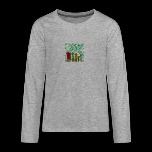 couleurs chauds des tropiques - T-shirt manches longues Premium Ado