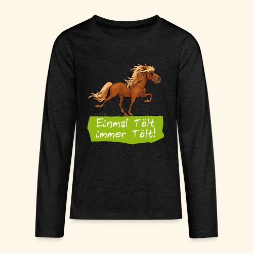 Island Pferd Tölt - T-shirt manches longues Premium Ado