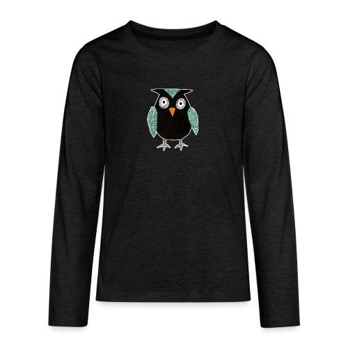 Collage mosaic owl - Teenagers' Premium Longsleeve Shirt