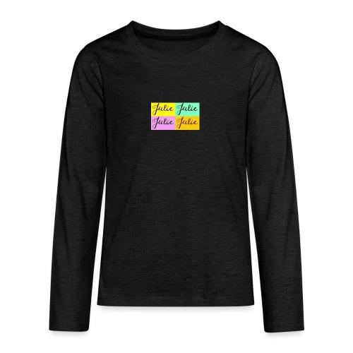 Julie Pop art - T-shirt manches longues Premium Ado