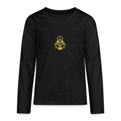vaakuna, iso - Teinien premium pitkähihainen t-paita