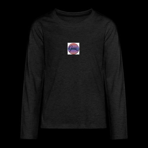 multi coloured logo - Teenagers' Premium Longsleeve Shirt