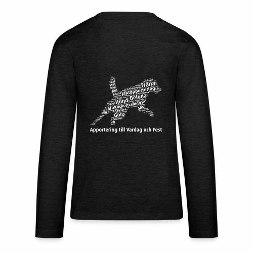 Apportering till vardag och fest wordcloud vitt - Långärmad premium T-shirt tonåring