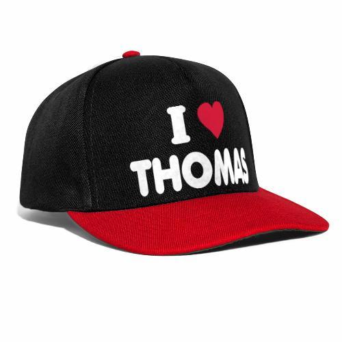 I love Thomas - Snapback Cap